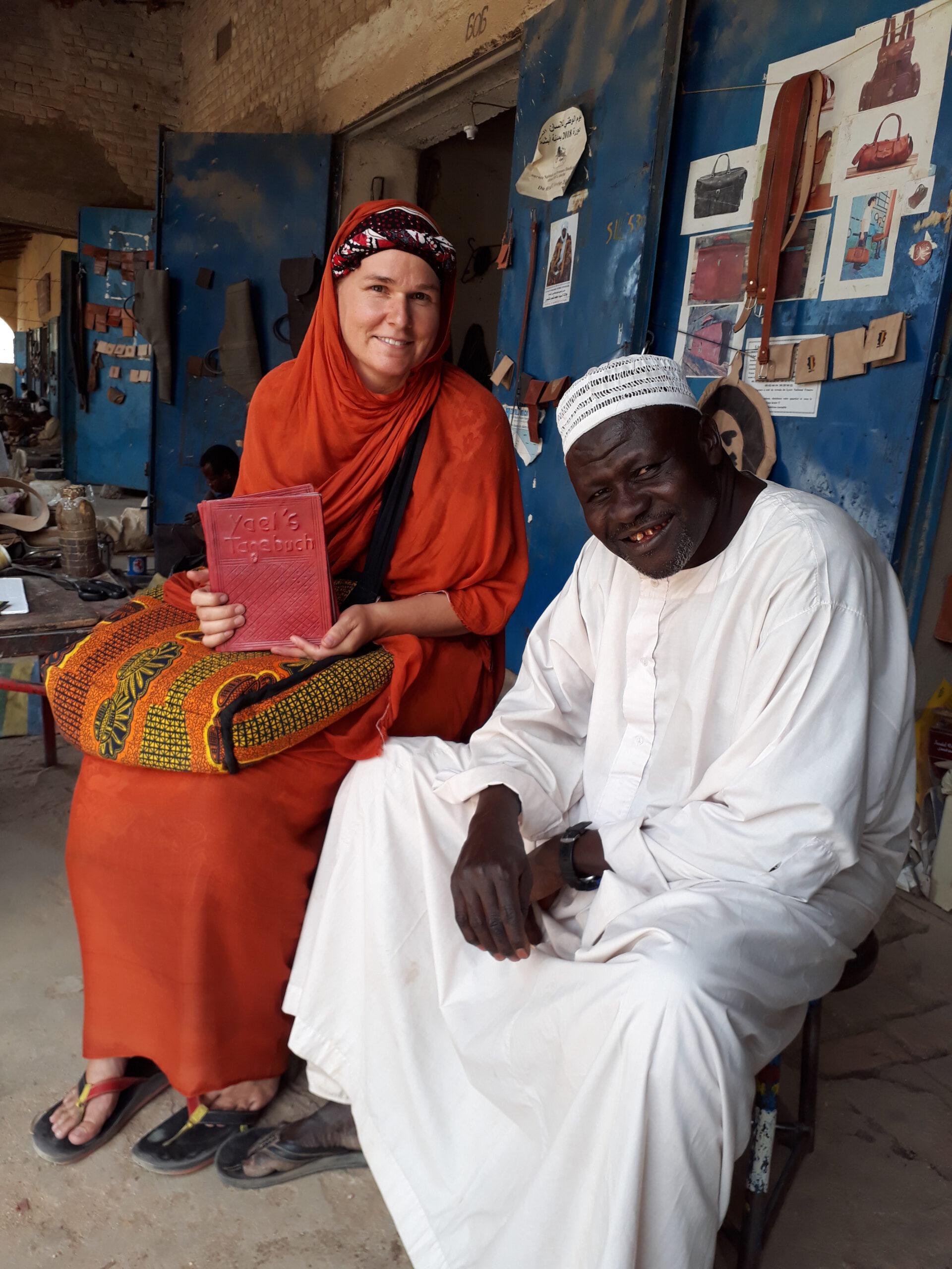 auf der Arbeit im Tschad immer nur mit myvale